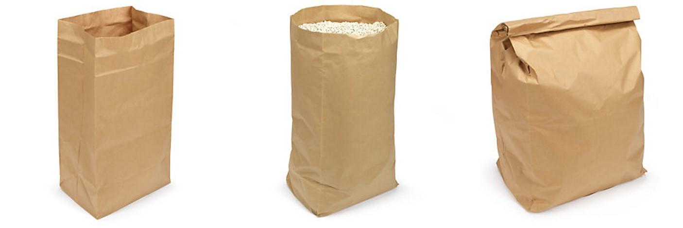 Kraft popieriniai maišeliai