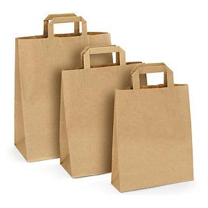 Rudi popieriniai maišeliai su rankenomis